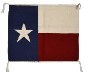Texas Flag Pictorial Navajo Weaving