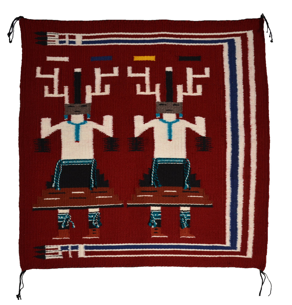 Yei Deer Dancers Navajo Weaving