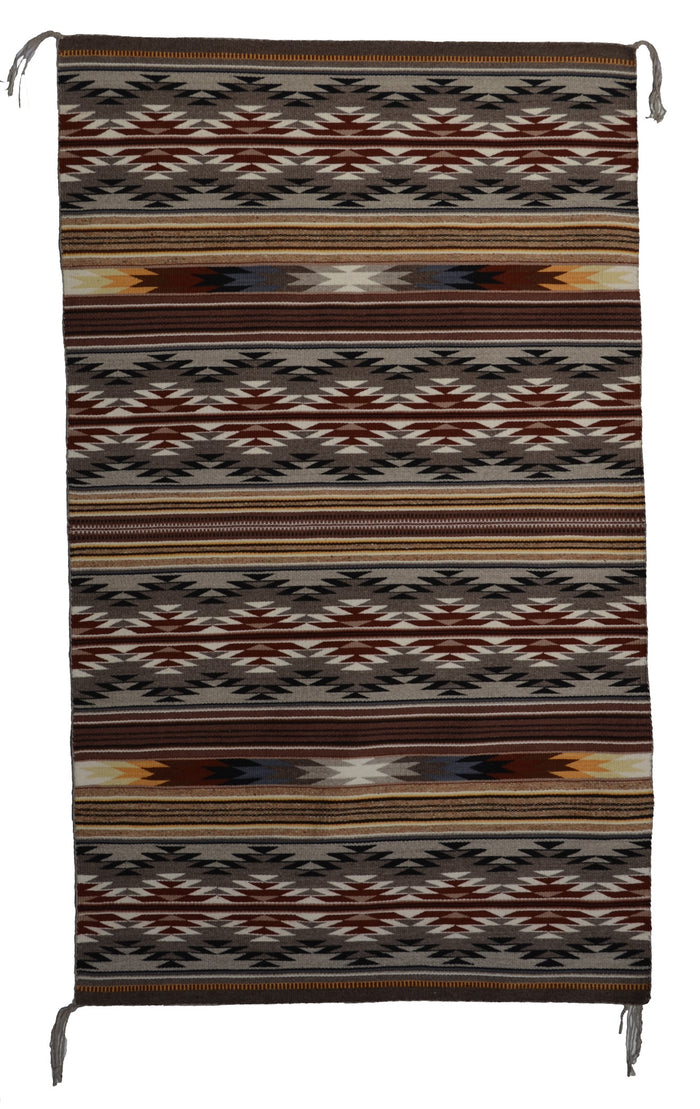 Wide Ruins Navajo Weaving : Mae Jean Chester : 3305