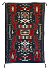 Storm Pattern Navajo Weaving : Gabrielle Chester : 3311