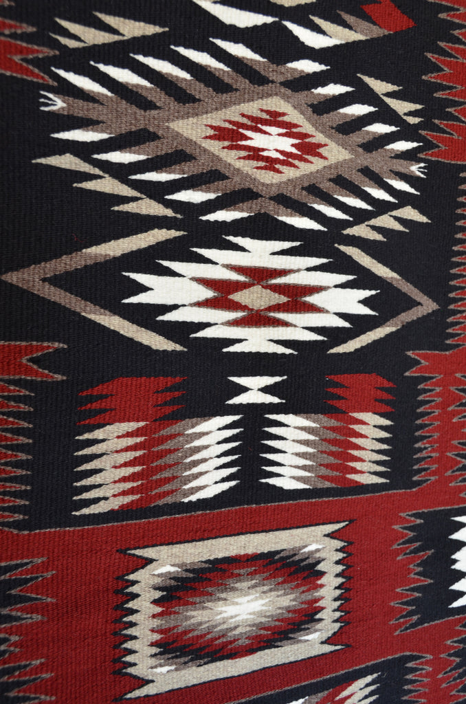 Storm Pattern Navajo Rug detail photo