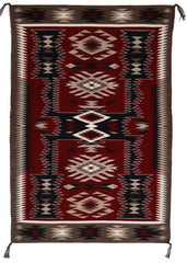 SOLD - Storm Pattern Navajo Weaving : Gabrielle Chester : 3316