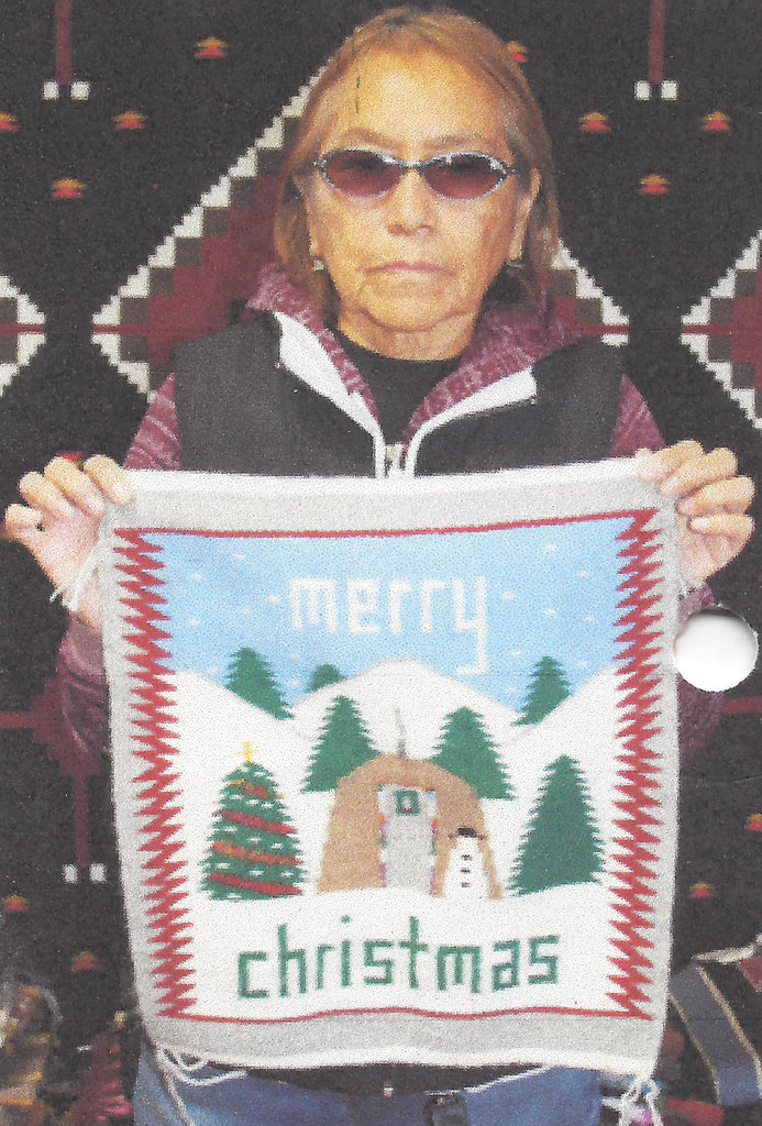 Christmas Pictorial Navajo Weaving : Ella Begay : 3327 - Getzwiller's Nizhoni Ranch Gallery