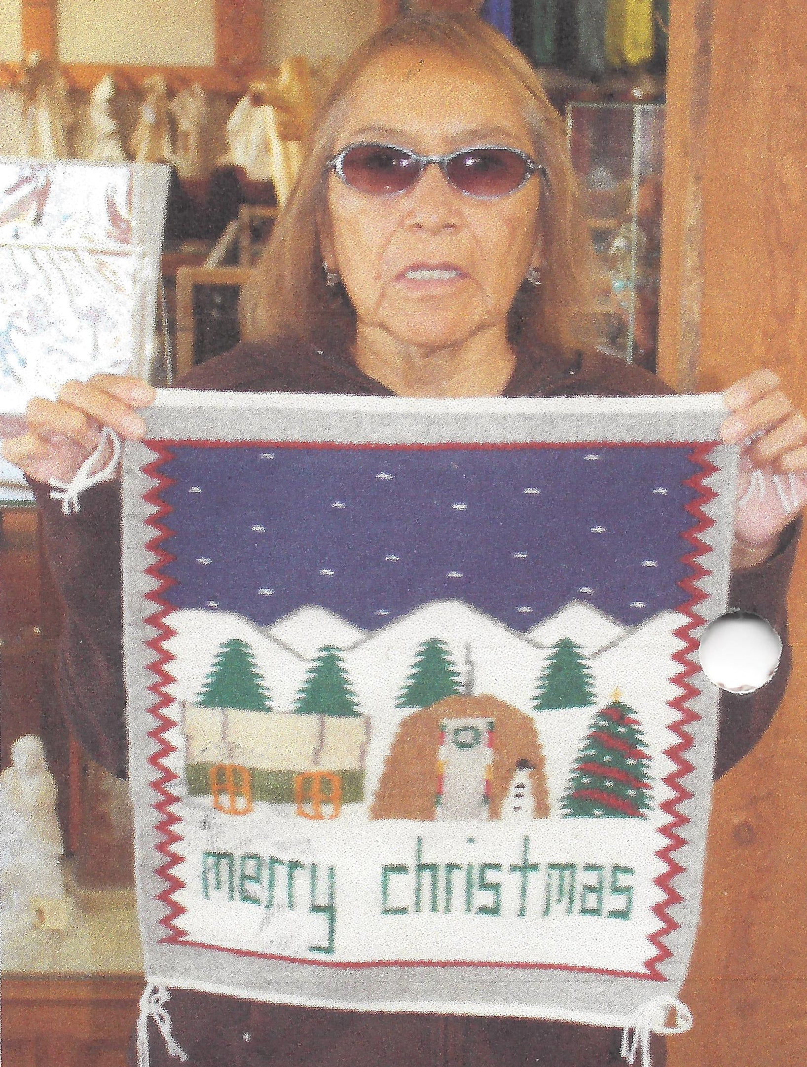 Christmas Pictorial Navajo Weaving : Ella Begay : 3330