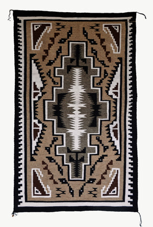 Two Grey Hills Navajo Weaving : Joanna Tom : 3337 : 3' x 5' - Getzwiller's Nizhoni Ranch Gallery