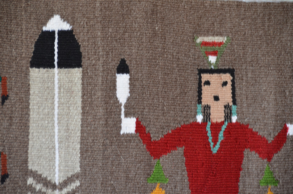 Feather Dance Pictorial Navajo Weaving : Arnold Begay : 3357 - Getzwiller's Nizhoni Ranch Gallery