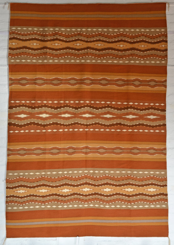 Mary Yellow Horse Wide Ruin navajo weaving full size photo