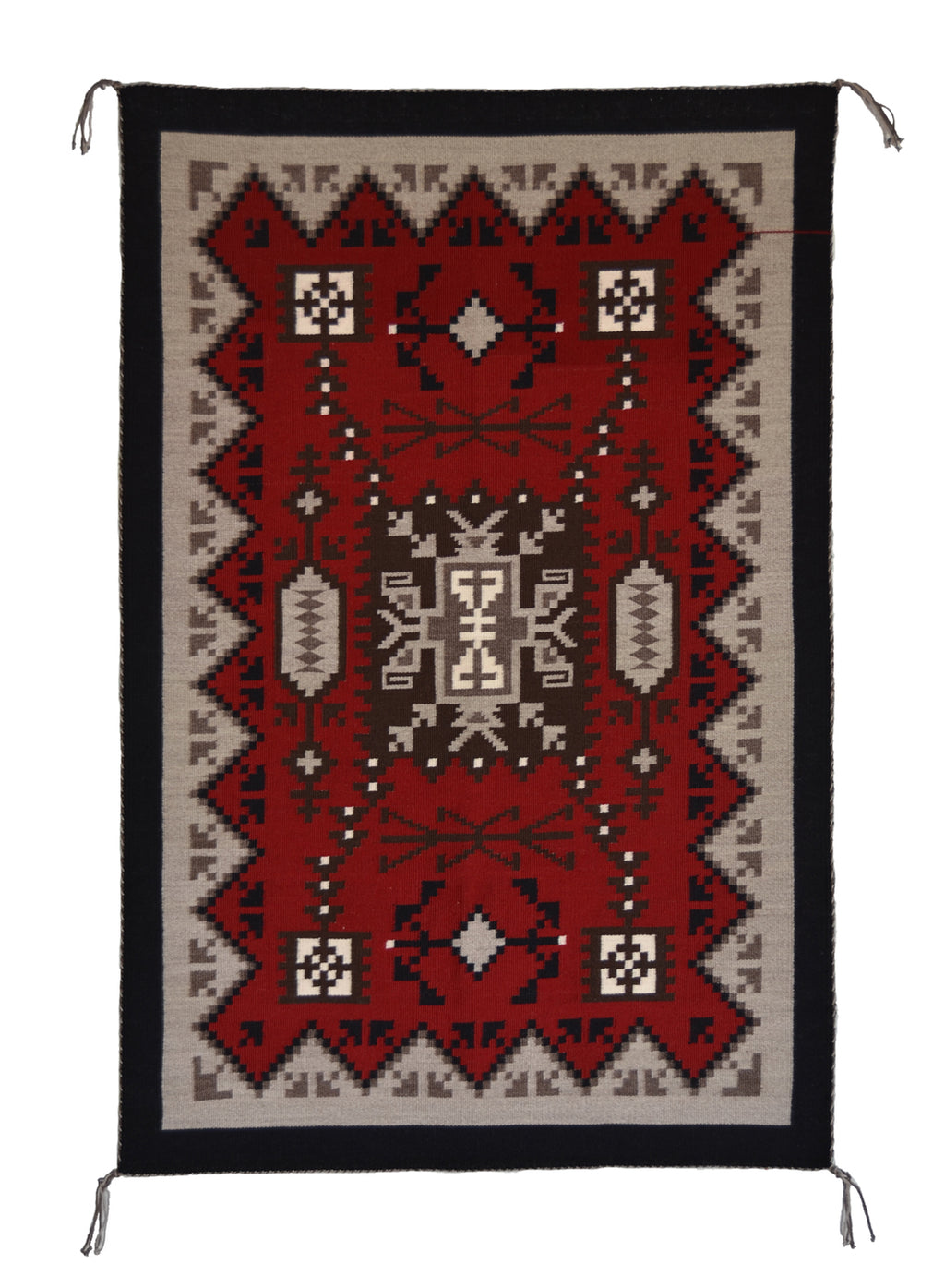 Storm Pattern Navajo Rug with Ganado colors.