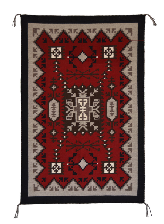 Storm Pattern Native American Rug : Ruby Watchman : 3387