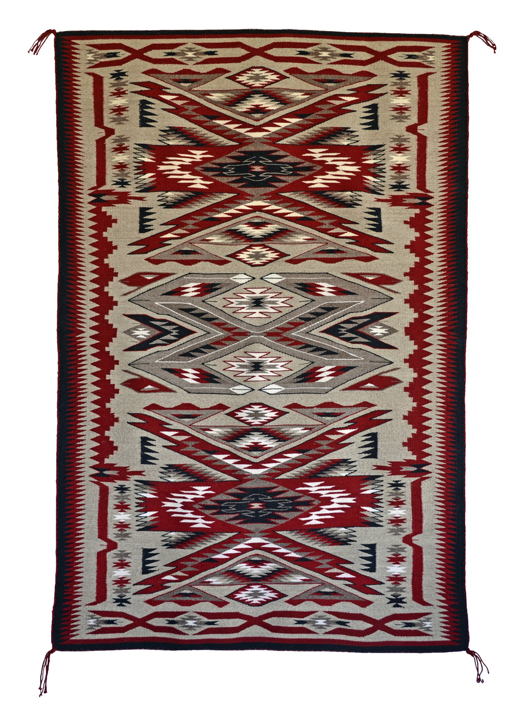 "American Indian Rug : Storm Pattern Variant : Gabrielle Chester : 3388 : 37″ x 56"" - Getzwiller's Nizhoni Ranch Gallery"