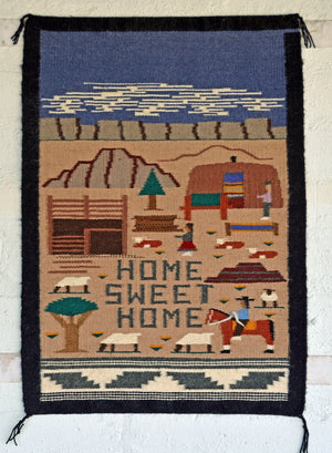 "Pictorial : American Indian Weaving : Lorata Begay : 3391 : 19.5"" x 28"" : 19.5"" x 28"" - Getzwiller's Nizhoni Ranch Gallery"