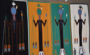 Navajo Sandpainting depicting Rain Gods