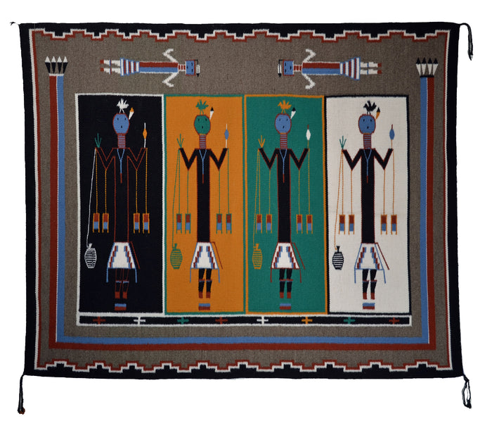 "SOLD Navajo Sandpainting Weaving : Martha Beall  : 3392 : 39"" x 48"""