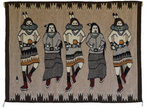 SOLD Yei Be Chei Navajo Weaving : Shirley Combs : 3393 : 37″ x 52″ - Getzwiller's Nizhoni Ranch Gallery