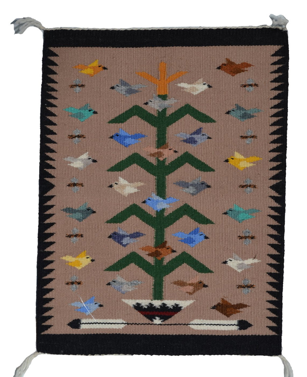 "SOLD Tree Of Life Navajo Weaving : Marie Begay : 3394 : 19"" x 14"" - Getzwiller's Nizhoni Ranch Gallery"