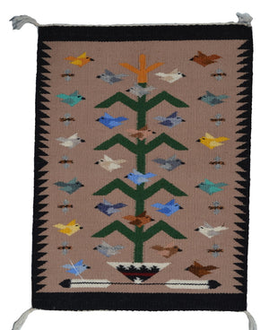 "Tree Of Life Navajo Weaving : Marie Begay : 3394 : 19"" x 14"" - Getzwiller's Nizhoni Ranch Gallery"