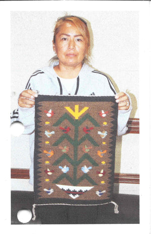 "Tree Of Life Navajo Weaving : Joanne Begaye : 3396 : 20"" x 14"" - Getzwiller's Nizhoni Ranch Gallery"