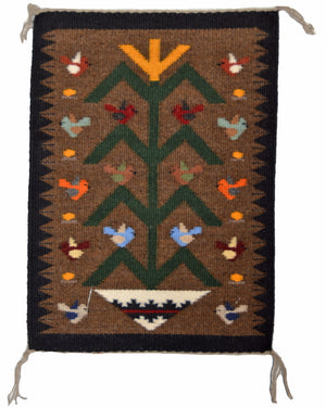 Tree Of Life Navajo Weaving : Joanne Begaye : 3396 - Getzwiller's Nizhoni Ranch Gallery