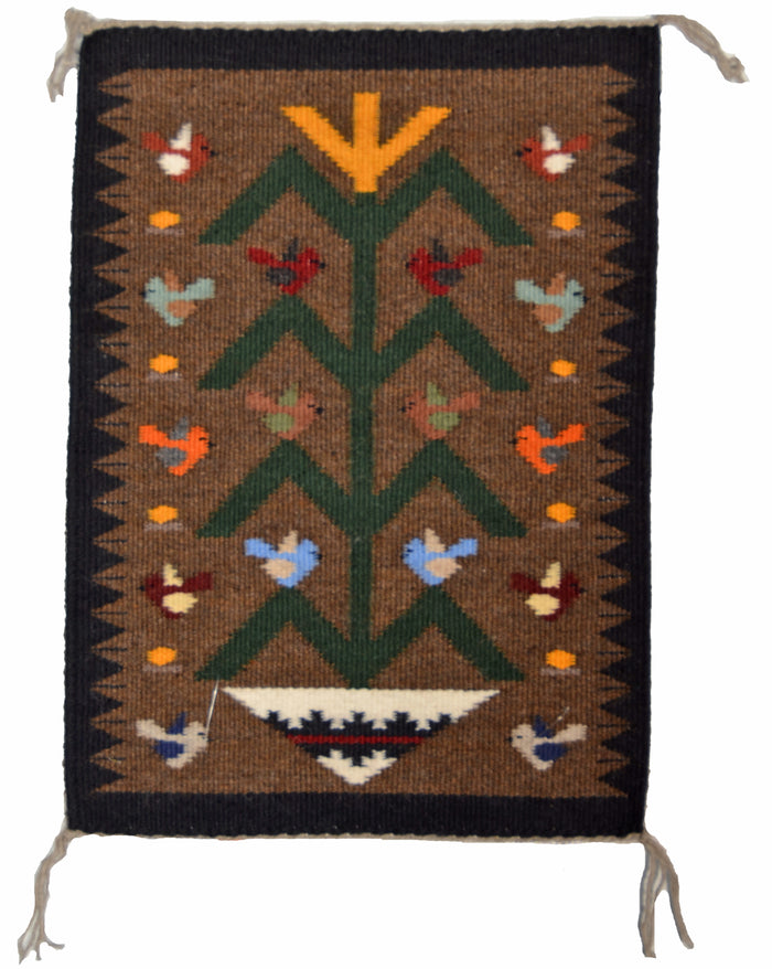 "SOLD - Tree Of Life Navajo Weaving : Joanne Begaye : 3396 : 20"" x 14"""