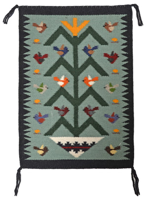 Tree Of Life Navajo Weaving : Joanne Begaye : 3397 - Getzwiller's Nizhoni Ranch Gallery