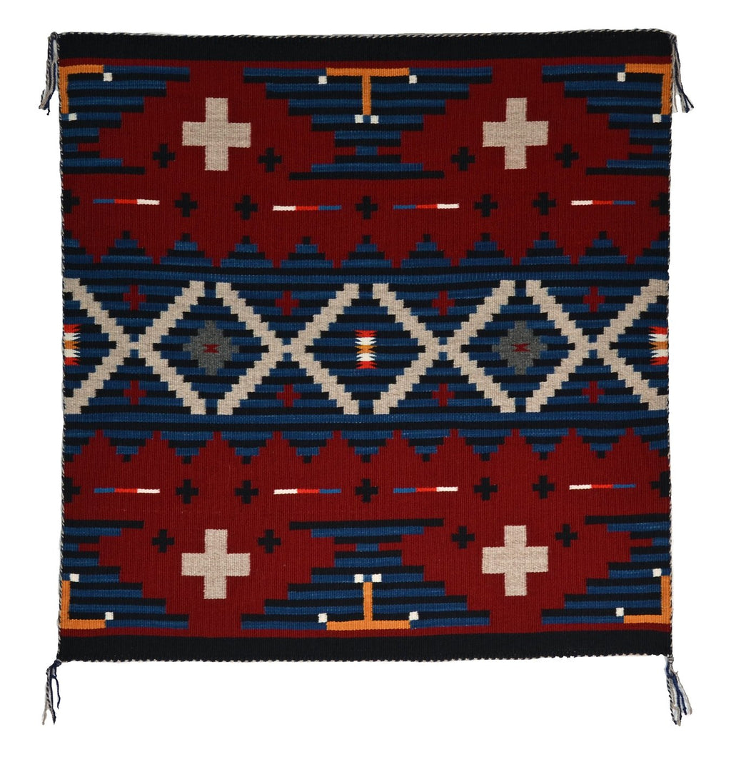 "American Indian Germantown Moki Style Rug : Elvie Van Winkle : 3400 : 26"" x 26"" - Getzwiller's Nizhoni Ranch Gallery"