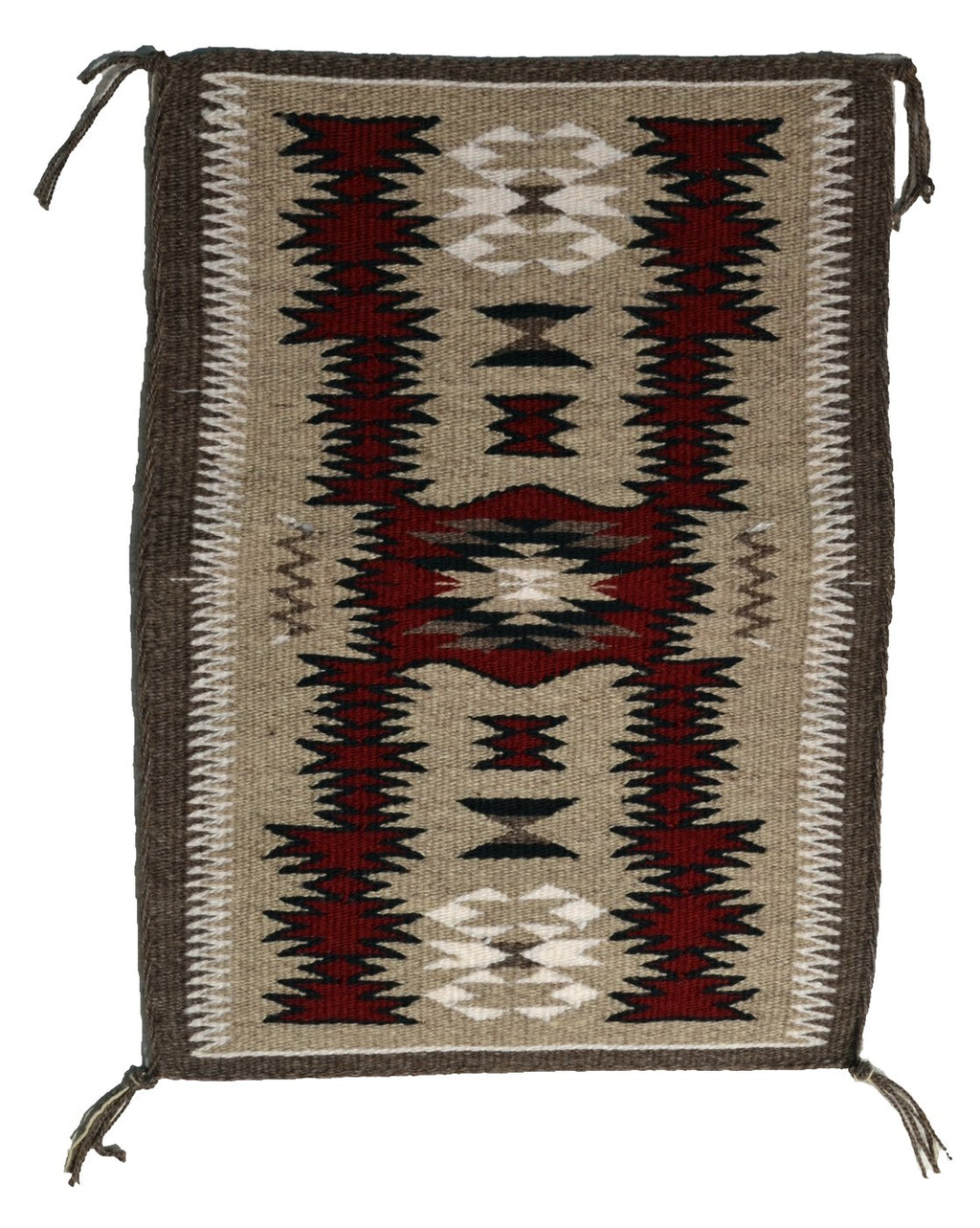 "American Indian Storm Pattern Rug : Gabrielle Chester : 3401 : 11.5"" x 16.5"" - Getzwiller's Nizhoni Ranch Gallery"