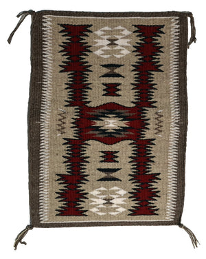 "SOLD American Indian Storm Pattern Rug : Gabrielle Chester : 3401 : 11.5"" x 16.5"" - Getzwiller's Nizhoni Ranch Gallery"