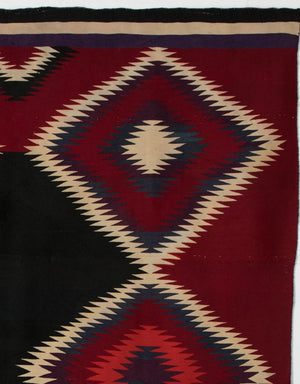 "Germantown Serape Navajo Weaving : Historic : GHT 783 : 57"" x 74"" - Getzwiller's Nizhoni Ranch Gallery"
