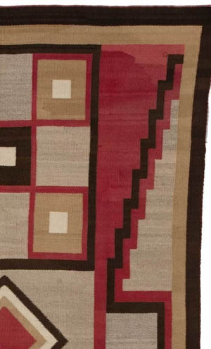 Crystal Optical Navajo Rug Weaving : Historic  : PC 42 - Getzwiller's Nizhoni Ranch Gallery