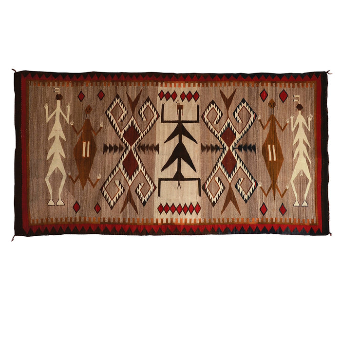 "Sandpainting Dragonfly Yei Navajo Weaving : Historic : GHT 2221 : 71"" x 37"""