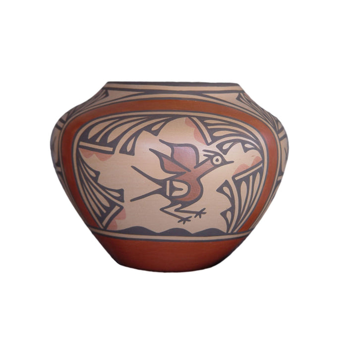 Zia Pueblo Pottery : Ruby Panana : Road Runner Design- rp15