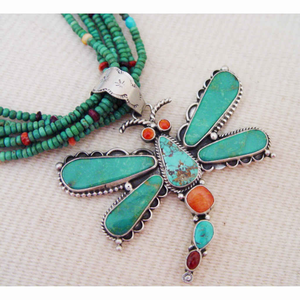 SOLD  Jewelry : Dragonfly Necklace : Jan Mariano : NAJ-2N - Getzwiller's Nizhoni Ranch Gallery