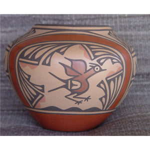 Zia Pueblo Pottery : Ruby Panana : Road Runner Design- rp15 - Getzwiller's Nizhoni Ranch Gallery