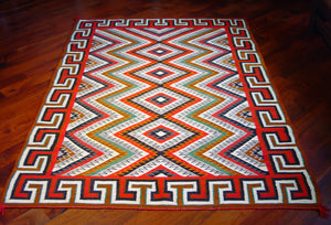 "Red Mesa / Teec Nos Pos Navajo Weaving : Historic : GHT 86 : 51"" x 72"" - Getzwiller's Nizhoni Ranch Gallery"