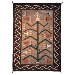 "Yei Cornstalk Pictorial Navajo Weaving : Historic : GHT 2027  50"" x 69"" - Getzwiller's Nizhoni Ranch Gallery"