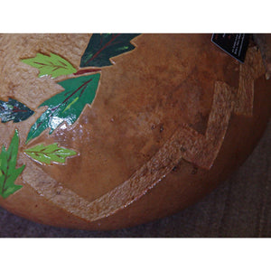 Native American : Deer Gourd : Rachel Jaramillo : Gourd-carving - Getzwiller's Nizhoni Ranch Gallery