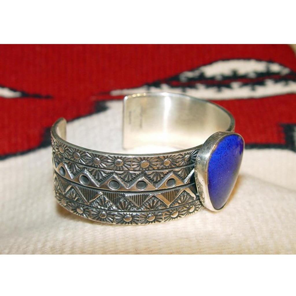 Jewelry : Bracelet - Silver With Lapis : Marc Antia : NAJ-21 - Getzwiller's Nizhoni Ranch Gallery