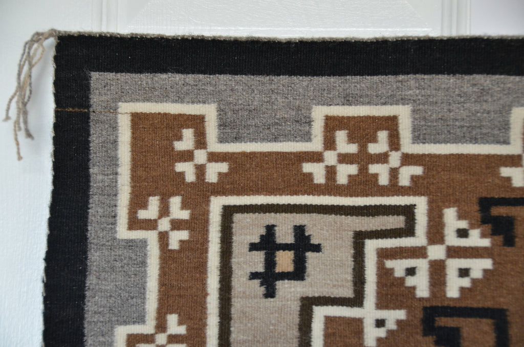 Two Grey Hills Navajo Tapestry check out the detail