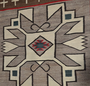 JB Moore Crystal Navajo Rug : Historic : PC 117