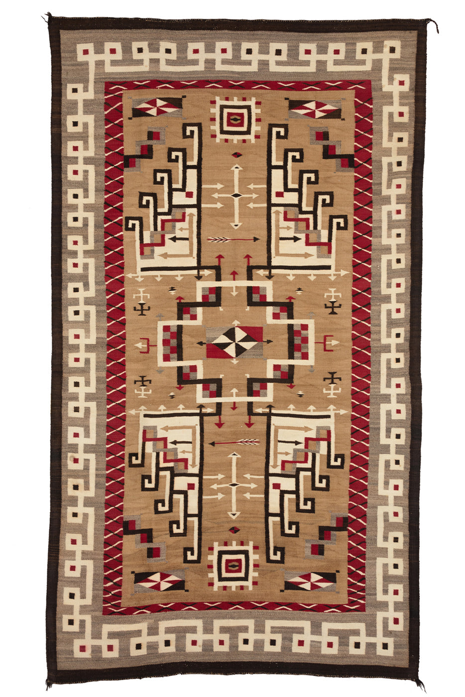 Historic JB MORE Navajo rug very intricate design
