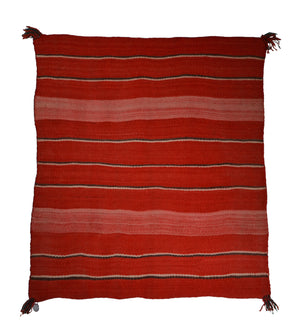 "Double Saddle Blanket : Historic Navajo Weaving : PC 200 : 37"" X 42"""