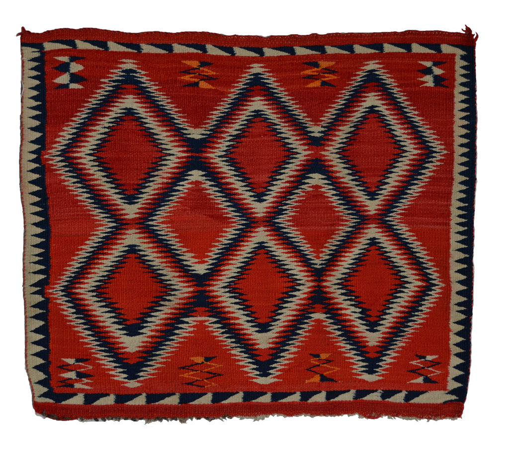 "Navajo Saddle Blanket -Single : Historic : PC 207 : 33"" x 29"" - Getzwiller's Nizhoni Ranch Gallery"