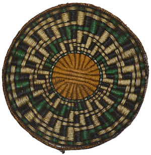 SOLD: Native American Basket : Hopi Wicker Plaque : Basket 22 - Getzwiller's Nizhoni Ranch Gallery