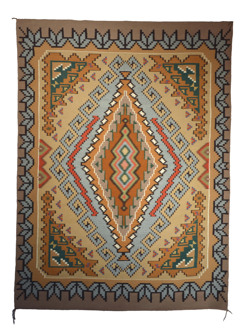 Burntwater Navajo rug from the 1980s