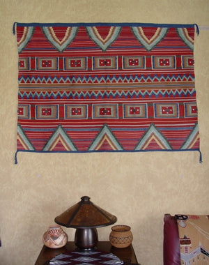 Manta - woven Of Pure Silk : Churro 518 : 60″ x 50″ - Getzwiller's Nizhoni Ranch Gallery