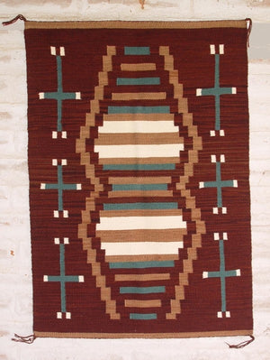 Crystal - Old Style Navajo Weaving : Louise Reed : Churro 1034 - Getzwiller's Nizhoni Ranch Gallery