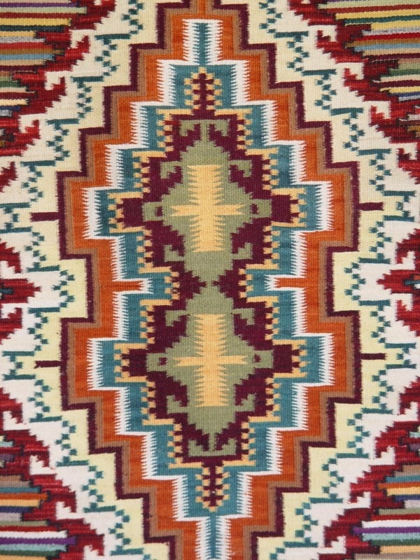 Burntwater - Spider Rock Navajo Weaving : Carrie Whitney : Churro 1376 - Getzwiller's Nizhoni Ranch Gallery
