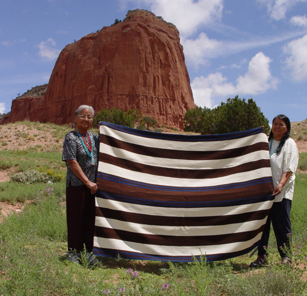 1st Phase Chief Blanket : Marianito : Churro 1410 - Chiefs Blankets - Churro Collection- Navajo Rugs - Navajo Textiles