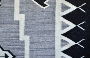 Storm Pattern Pictorial Navajo Rug : Irvin Phillips : Churro 1484 : 34″ x 60″ - Getzwiller's Nizhoni Ranch Gallery