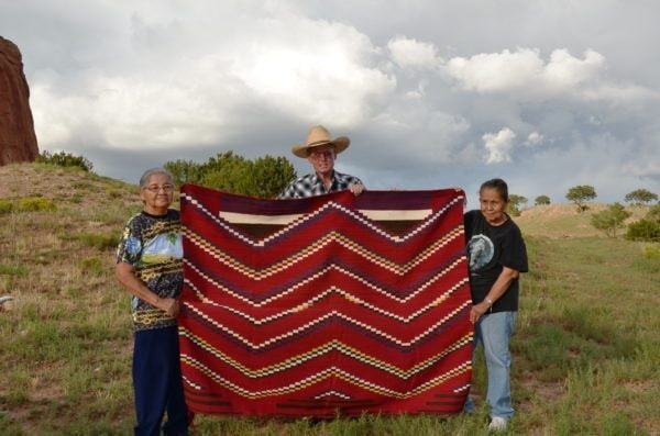 3rd Phase Navajo Chief Blanket : Lucie Marianito : Churro 1497 - Getzwiller's Nizhoni Ranch Gallery
